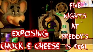 EXPOSING CHUCK E CHEESE! FNAF IS REAL!!! PART 1...