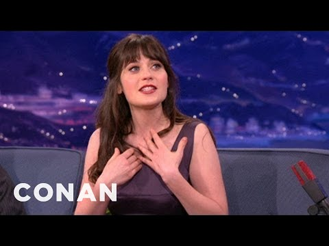Zooey Deschanel Loves To Be Prepared For A Disaster - CONAN on TBS