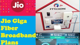 Reliance Jio Giga Fiber Broadband | Plans | Speed | Hindi