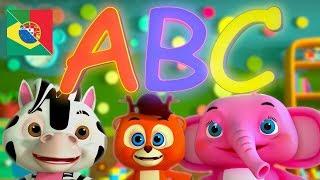 A canção do ABC | Canções Préescolares | Para Crianças | Música para bebés | ABC Songs