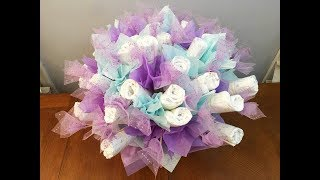 Baby Diaper Bouquet | Diaper Cake (Tutorial)