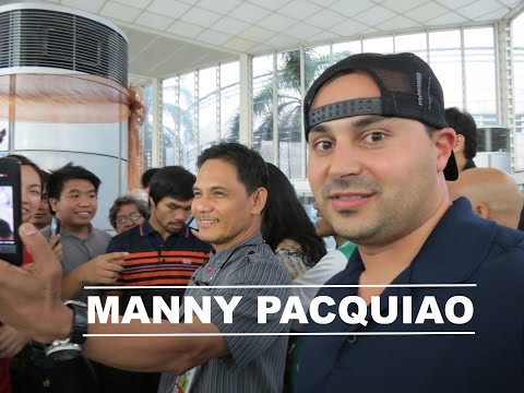 Manny Pacquiao Welcomes Me to the Philippines! HD