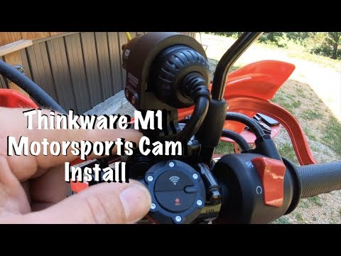 Thinkware M1 Motorsports Cam Install & Videos Honda CRF250L Motorcycle Dashcam