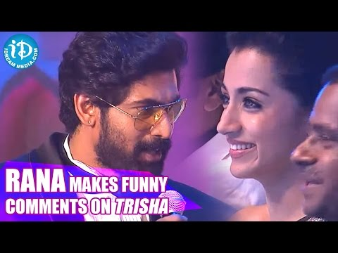 Rana Makes Funny Comments on Trisha || SIIMA 2014 Awards