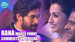 Rana Makes Funny Comments on Trisha || SIIMA 2014 Awards