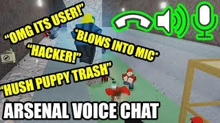 I turned on Roblox VOICE CHAT in ARSENAL... (RIP HEADPHONE USERS)