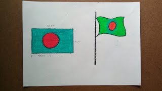 National Flag of Bangladesh, Simple strategy to draw pictures (Part-2)