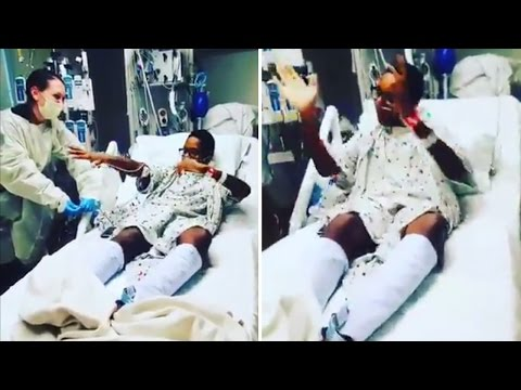 15-Year-Old Boy Dance in Hospital Bed