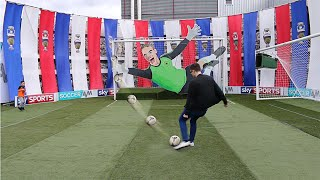 SOCCER AM CAR PARK CHALLENGE!!! YouTubers Vs Palmers FC Vs The Mechanical Neuer