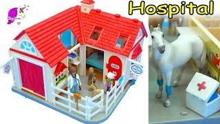 Taking Care of Animals At Breyer Horses Stablemates Vet Hospital with Playmobil Doctor