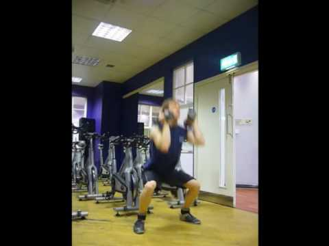 Fitness, weight loss: 2 dumbbell clean & jerk. Fit2Talk Exercises Image 1