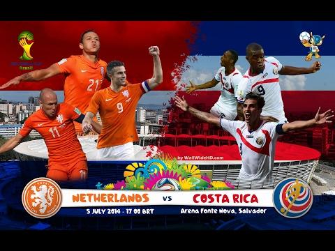 LIVE FIFA World cup 2014 QF Costa Rica v Holland Alternative Commentry