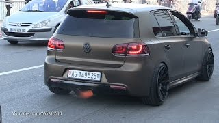 Golf 6 R shooting flames !! Extreme loud