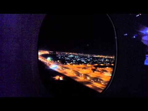 Emirates Airbus A380 [A6-EED] Landing at night in Dubai [GoPro]