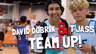 David Dobrik Assists My Half Court Buzzer Beater! Vidcon Basketball Game!
