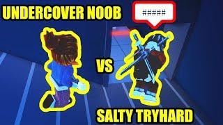 UNDERCOVER NOOB makes TRYHARDS RAGE QUIT... | Roblox Jailbreak