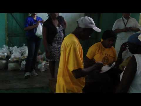 ADFE food distribution Haiti
