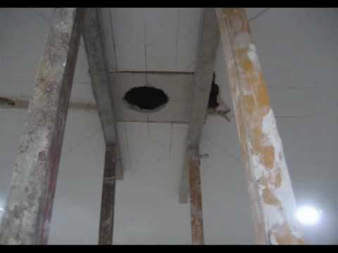 Como instalar focos empotrables en concreto losas - Instalar lampara techo ...