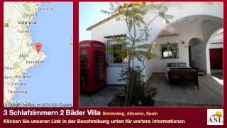 3 Schlafzimmern 2 Bäder Villa zu verkaufen in Benidoleig, Alicante, Spain