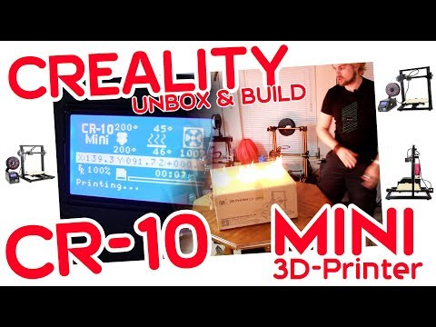 ✔ CREALITY CR-10 MINI 3D-Printer Review & Unbox Guide