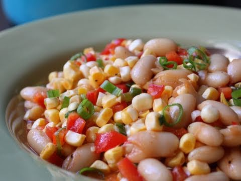 BBQ Corn & Bean Succotash Salad - Great Summer Salad!