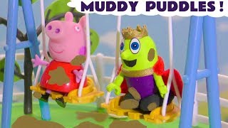 Peppa Pig story | Pepa meets the funny Funlings in muddy puddles at the playground TT4U