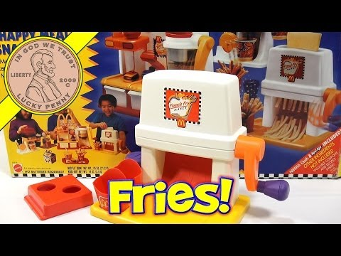 McDonald's Happy Meal Magic French Fry Snack Maker Set. 1993 Mattel Toys (Fun Recipes)