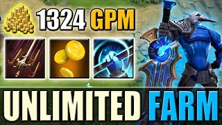 Super Fast Farming Machine [1324 GPM] Swashbuckle + Greevil's Greed | Dota 2 Ability Draft