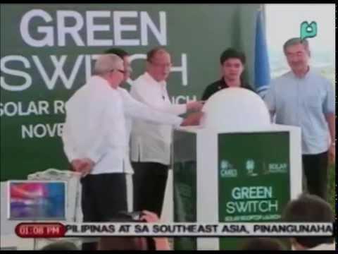 Paglulunsad ng pinakamalaking rooftop solar power plant sa Southeast Asia, pinangunahan ni PNoy