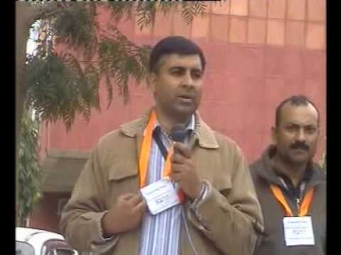 Protest against HUDA and Faridabad Neharpar Builders - Memorandum submission and Pankaj Speech