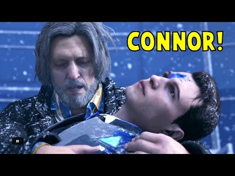 Connor Attack Simon vs Stay in Cover - All Choices - Detroit Become Human HD PS4 Pro