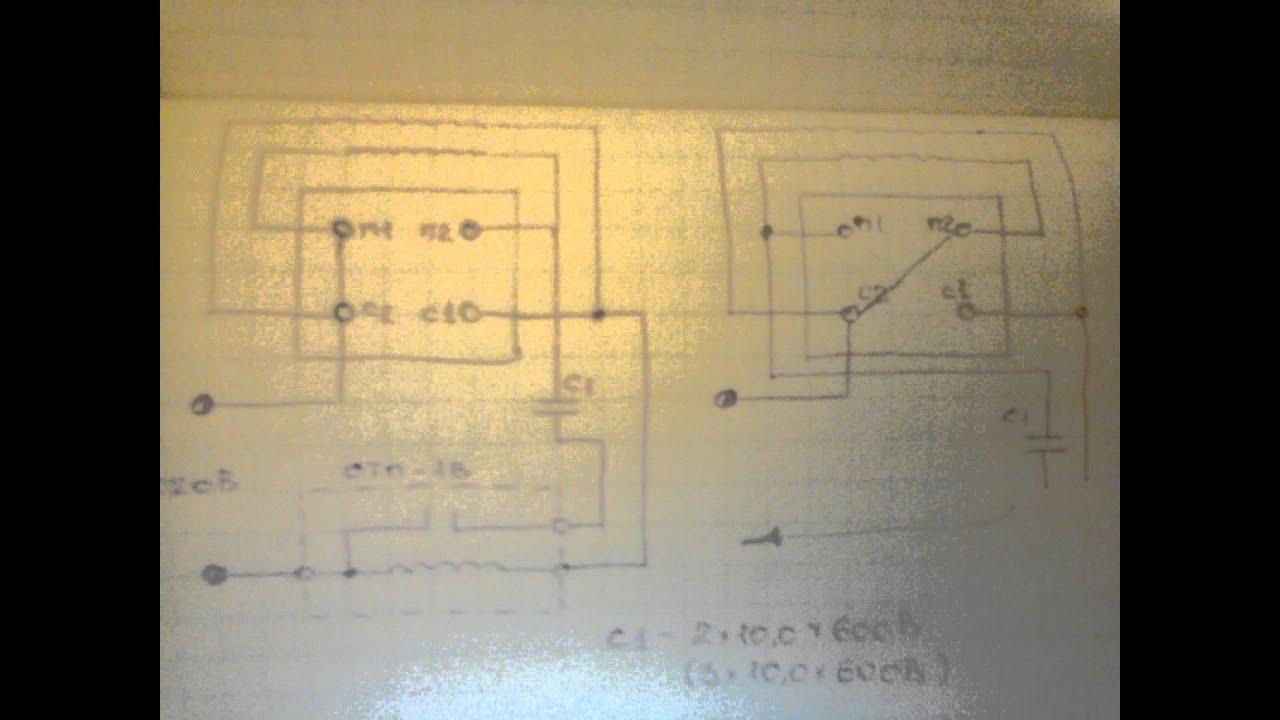 Как подключить двигатель от стиральной автомат машины к 220 схема