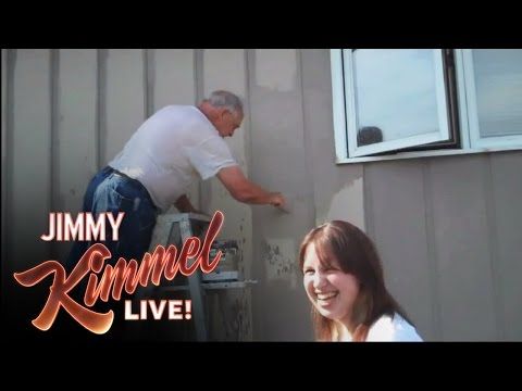 Youtube Challenge - Hey Jimmy Kimmel, I Sprayed My Dad With A Hose video