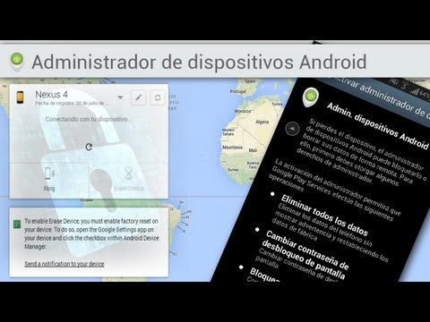 Android Device Manager - La Aplicación Anti-robo de Google