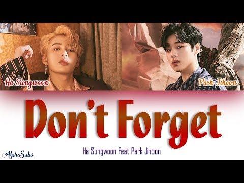 Download  Ha Sungwoon 하성운 Feat Park Jihoon 박지훈 - Don't Forget 잊지마요 Color Coded s/가사 Han|Rom|Eng Gratis, download lagu terbaru