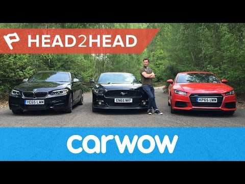 Ford Mustang vs Audi TT vs BMW M235i review and drag race 4K