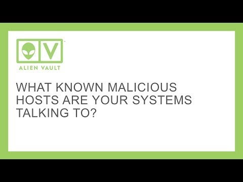 What known malicious hosts are your systems talking to?