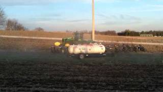Anhydrous Ammonia with a JD 9630 and a 24 knife bar
