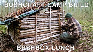 Bushcraft Camp: Shelter Build & Bushbox Cooking