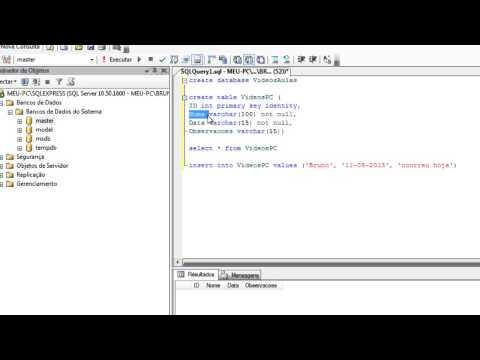 Introdução ao SQL Server 2008 - Comandos básicos