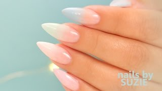 Pastel Color Fade Acrylic Nails - Step By Step Tutorial