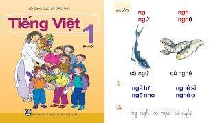 Học tiếng việt lớp 1 Tập 1 Bài 25: dạy bé học chữ cái chu cai tieng viet lop 1 | PA channel