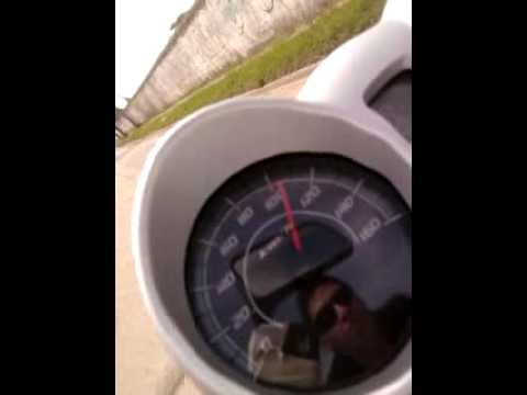 Honda CBX Twister 250 (0-100) test