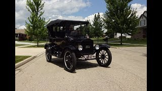 1919 Ford Model T 3 Door Touring in Black & Engine Sound & Ride on My Car Story with Lou Costabile