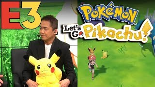 Pokemon Let's Go Pikachu Gameplay - FULL NINTENDO E3 PRESENTATION!