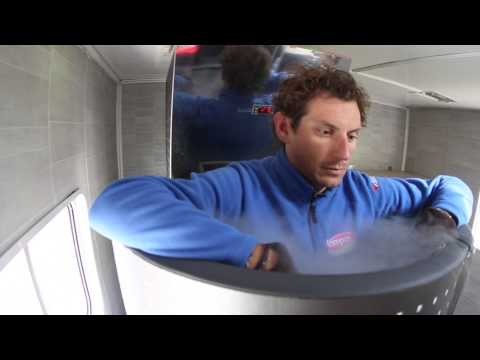 PIPPO POZZATO UNDER CRYOTHERAPY (HOW TO RECOVER AFTER A CYCLING RACE)