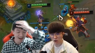 ZED99 FINALLY MEETS FAKER! - ZED99/CheonGo's Stream Highlights (Translated)