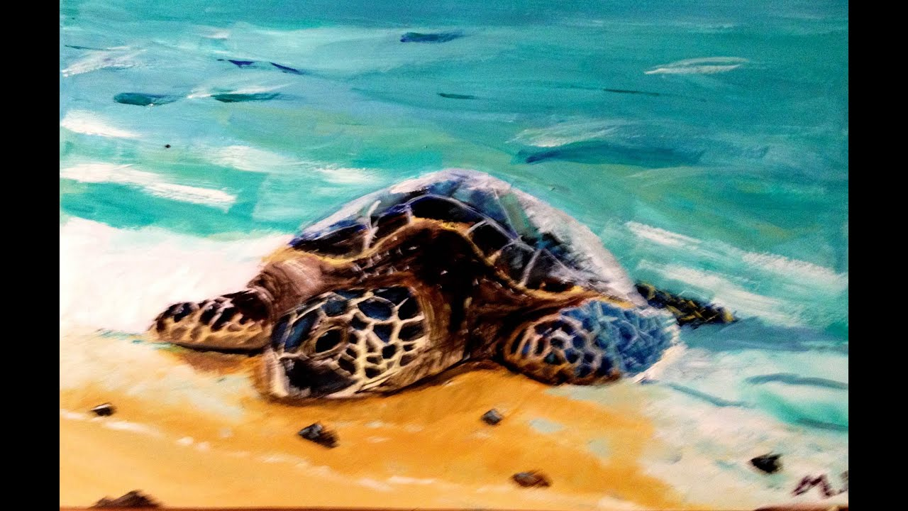 Images Of Sea Turtle Paintings