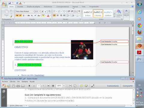 Como combinar documentos de word.wmv