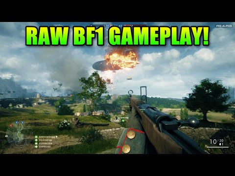 Battlefield One 44 Minutes Of Raw Gameplay | Squads Livestream LevelCap